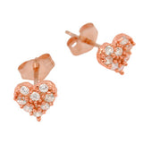 Cute Heart Stud Earrings - Jewelry Buzz Box  - 6