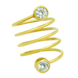 Circle Bezel Spiral Ring - Jewelry Buzz Box  - 5