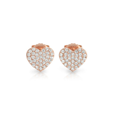 Honey Heart Stud Earrings - Jewelry Buzz Box  - 2