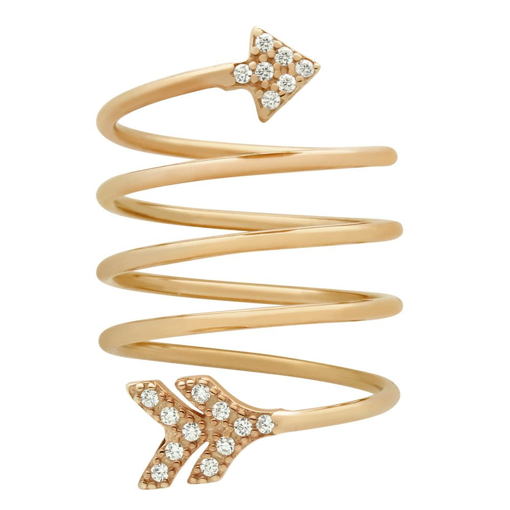 Arrow Spiral Ring - Jewelry Buzz Box  - 6