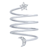 Star & Moon Spiral Ring - Jewelry Buzz Box  - 4