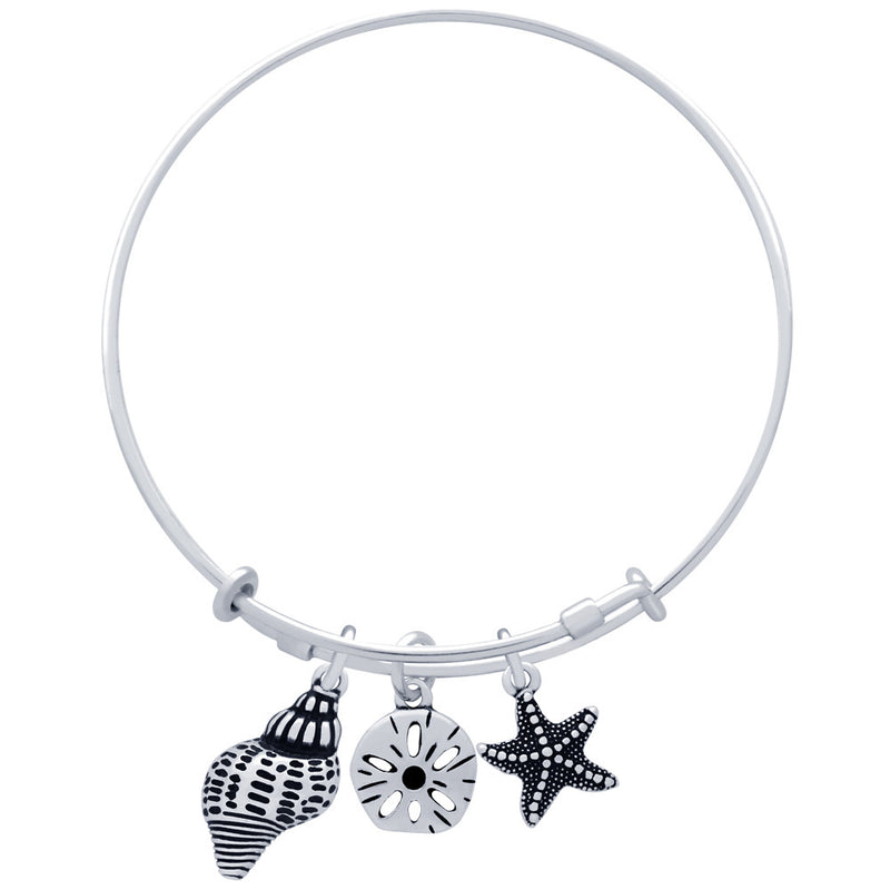 Sea Life Charm Bangle - Jewelry Buzz Box  - 2