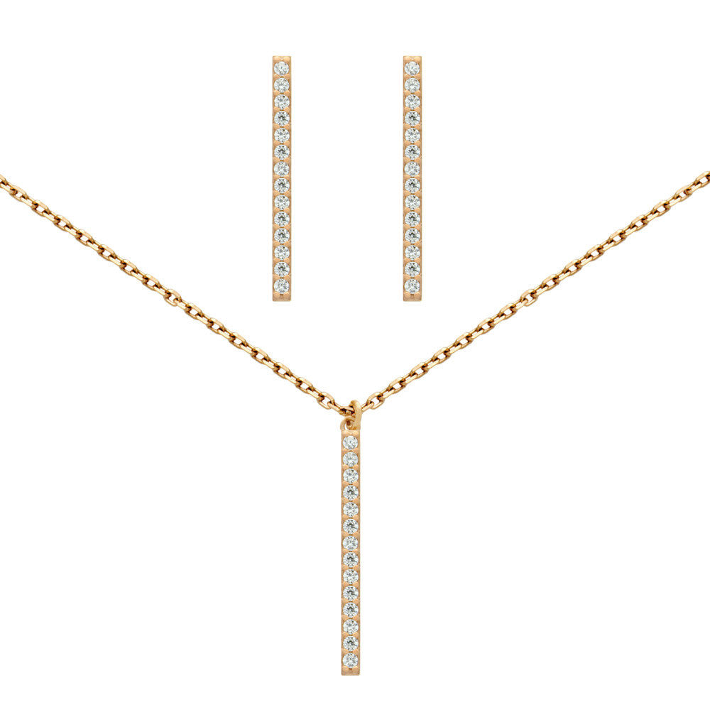 0924d1f89b2 Dazzle Bar Necklace & Earring Set - Jewelry Buzz Box - 3 ...