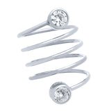 Circle Bezel Spiral Ring - Jewelry Buzz Box  - 4