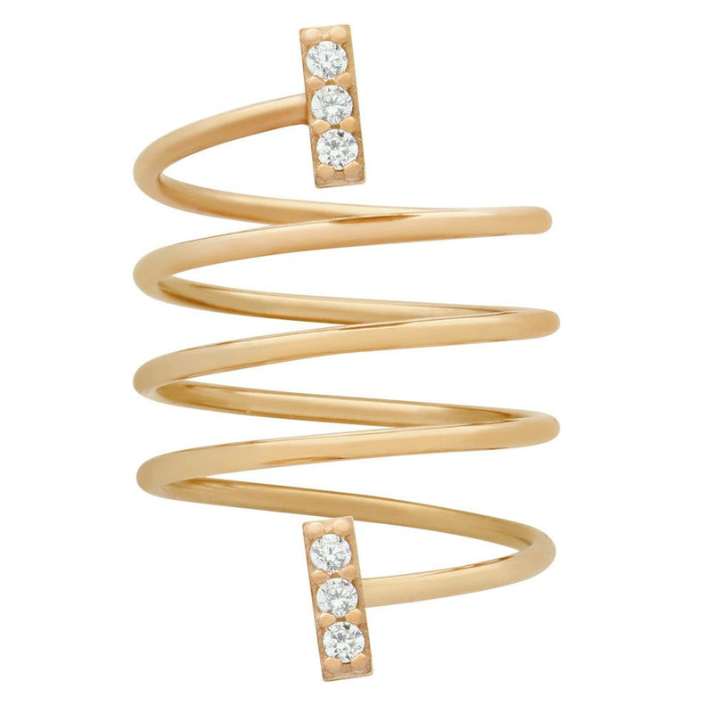 Bar Spiral Ring - Jewelry Buzz Box  - 5
