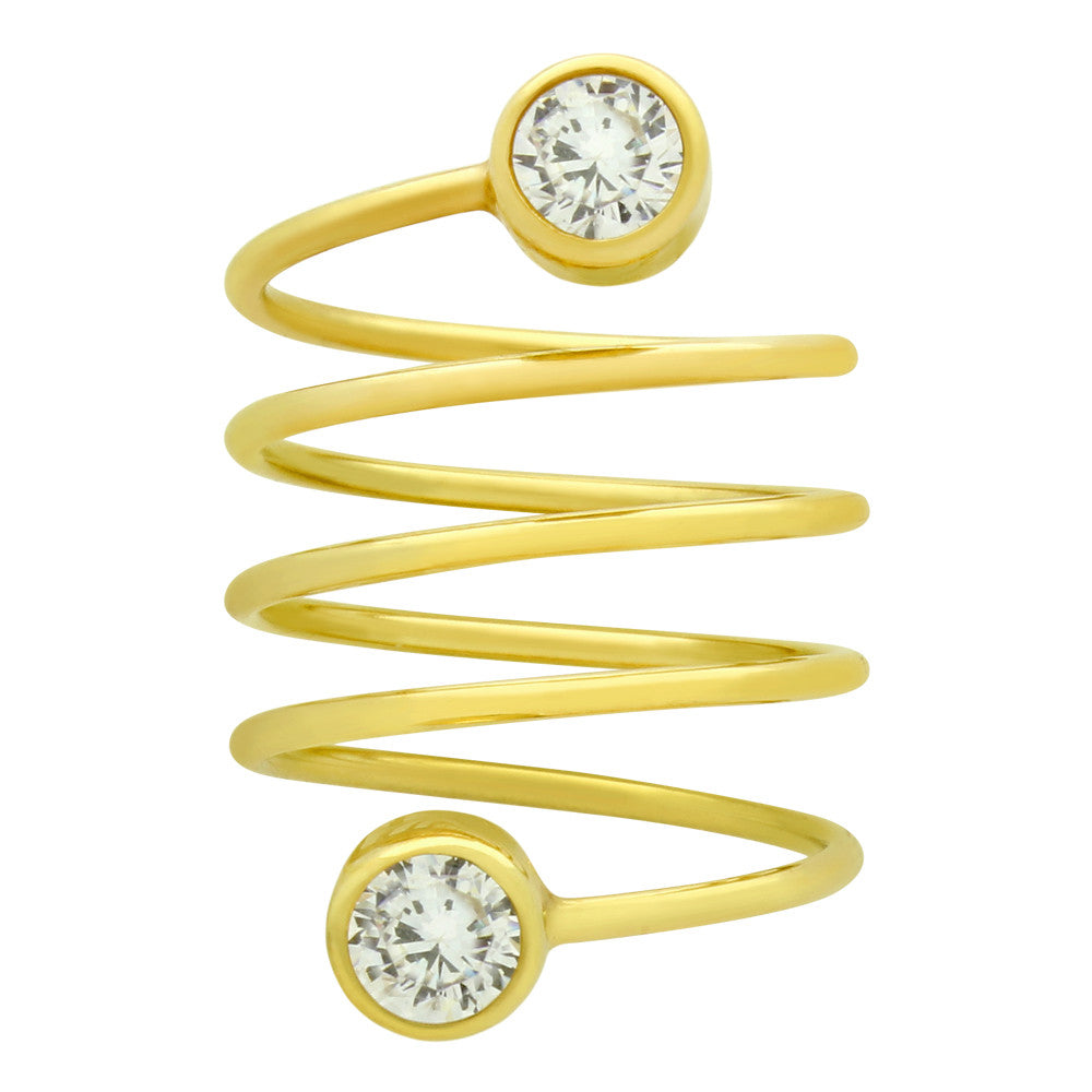 Circle Bezel Spiral Ring - Jewelry Buzz Box  - 6