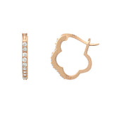 Fancy Flower Hoop Earrings - Jewelry Buzz Box  - 4