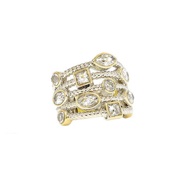 Stone Stacked Ring - Jewelry Buzz Box  - 3