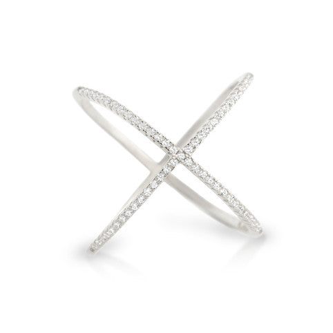 X Marks The Spot Ring - Jewelry Buzz Box  - 2