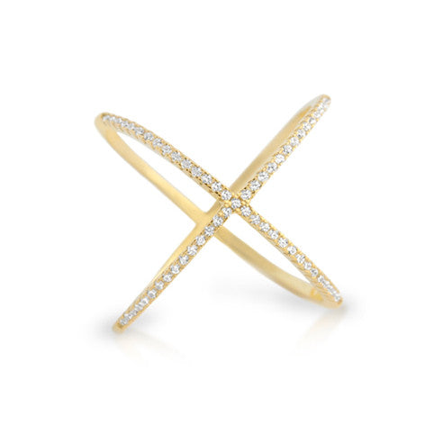 X Marks The Spot Ring - Jewelry Buzz Box  - 3