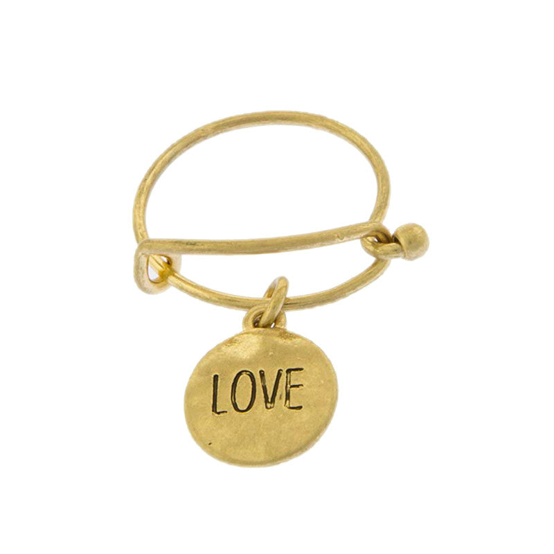 Love Disk Ring - Jewelry Buzz Box  - 1