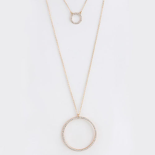 Chic Circle Necklace - Jewelry Buzz Box  - 2
