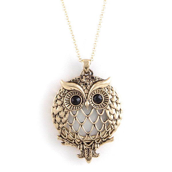 Wise Owl Magnify Necklace - Jewelry Buzz Box  - 1
