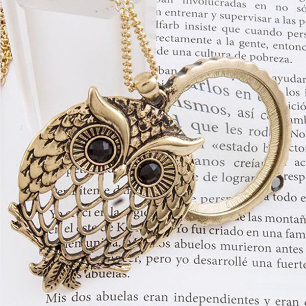 Wise Owl Magnify Necklace - Jewelry Buzz Box  - 4