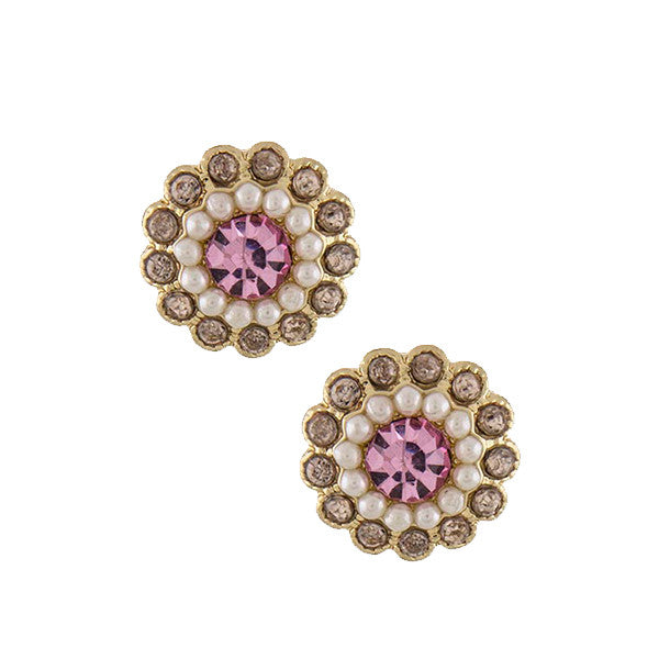 Pearl Blossom Studs - Jewelry Buzz Box  - 1