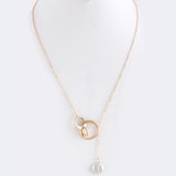 Pearl Lariat Necklace - Jewelry Buzz Box  - 4