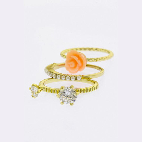 Rose Stack Rings - Jewelry Buzz Box  - 4