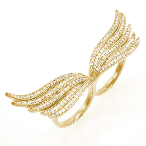 Angelic Wing Ring - Jewelry Buzz Box  - 1