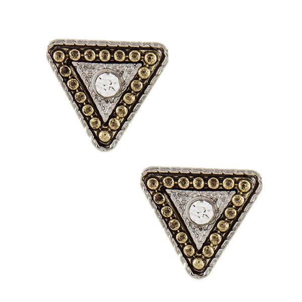 Triangle Stud Earrings - Jewelry Buzz Box  - 2