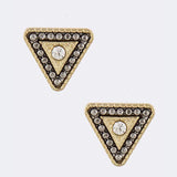 Triangle Stud Earrings - Jewelry Buzz Box  - 3