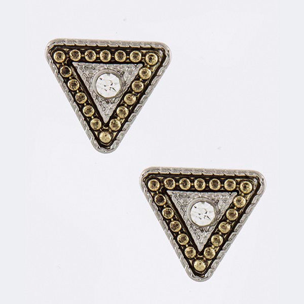 Triangle Stud Earrings - Jewelry Buzz Box  - 4