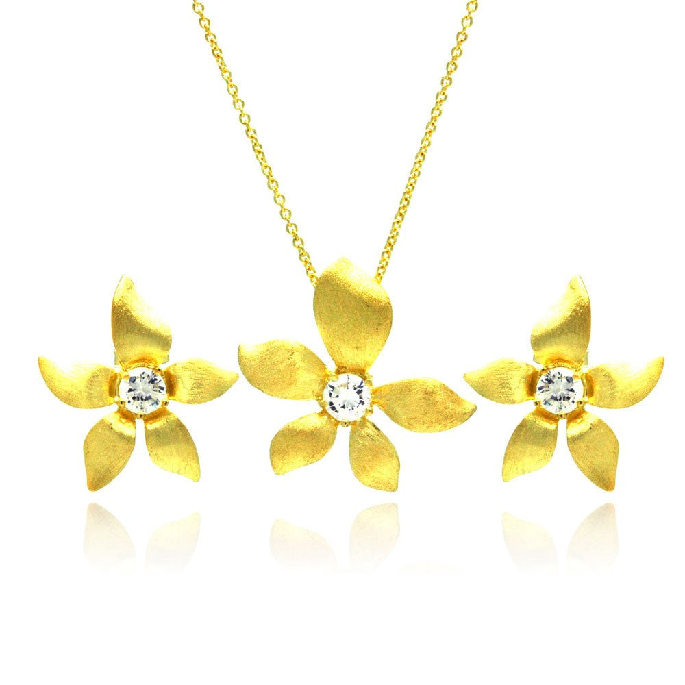 Glow Flower Necklace Set - Jewelry Buzz Box