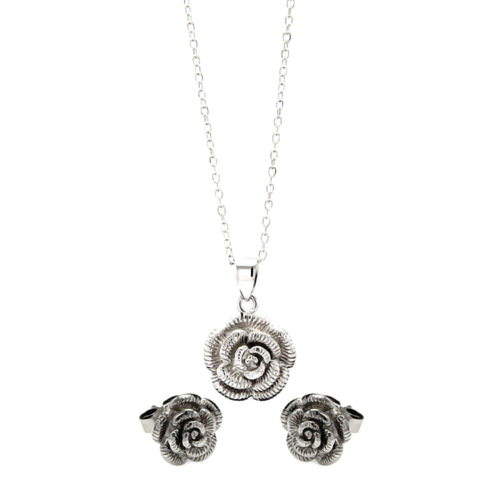 Delicate Rose Set - Jewelry Buzz Box