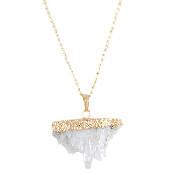 Quartz Necklace - Jewelry Buzz Box  - 1