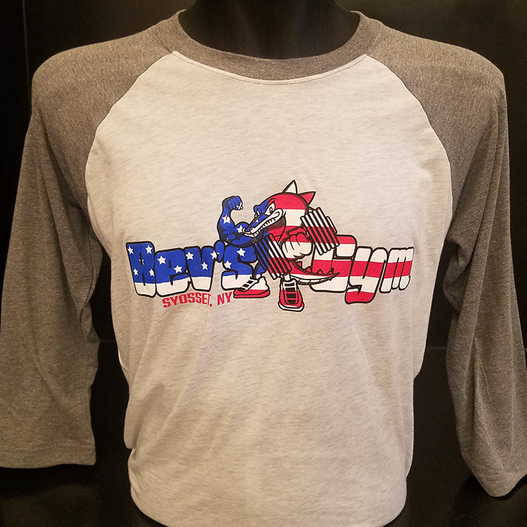 Bev's Gym Stars & Stripes Baseball 3/4 Long-Sleeve Tee