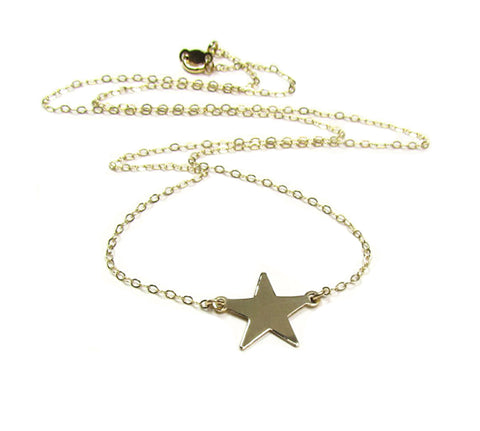 14K Star Necklace