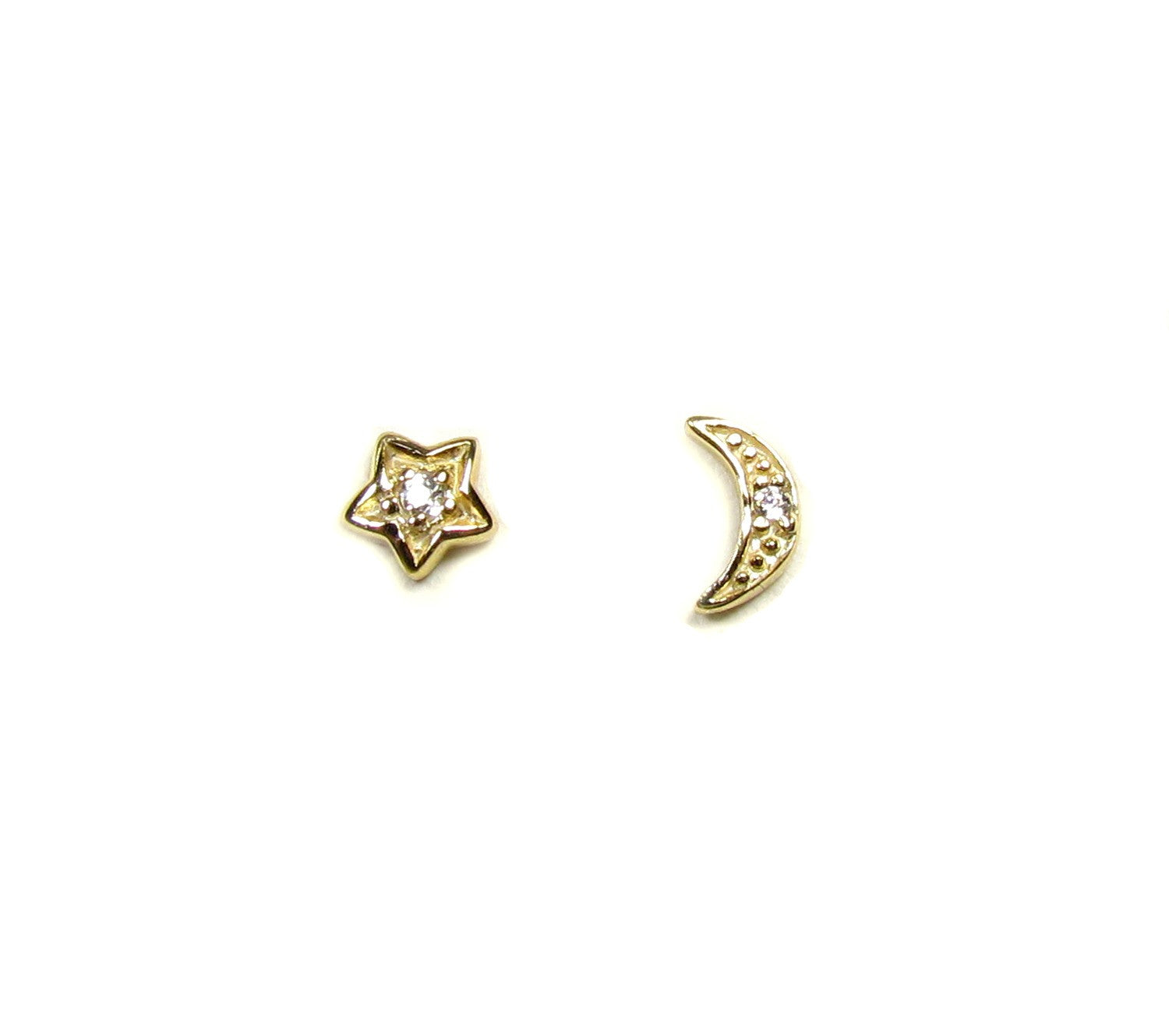 Moon & Star CZ Earrings
