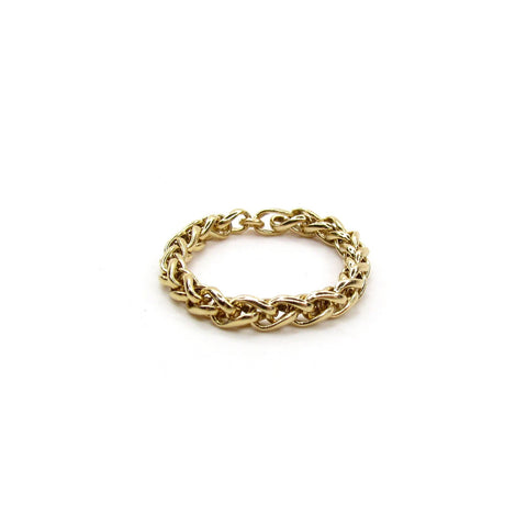 Chunky Woven Chain Ring- UNISEX