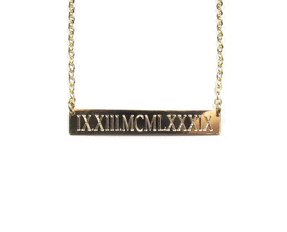 bar date products bohindi personalized classic necklace vertical