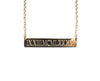 Engraved Roman Numerals Date Bar Nameplate Necklace