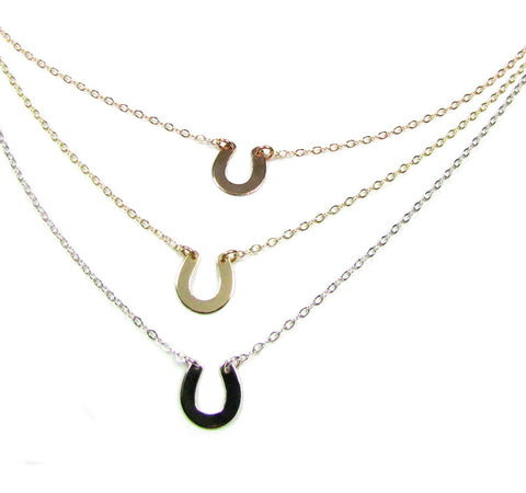 14K Small Horseshoe Necklace