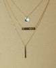 14KT Solid Gold Roman Numeral Personalized Bar Necklace