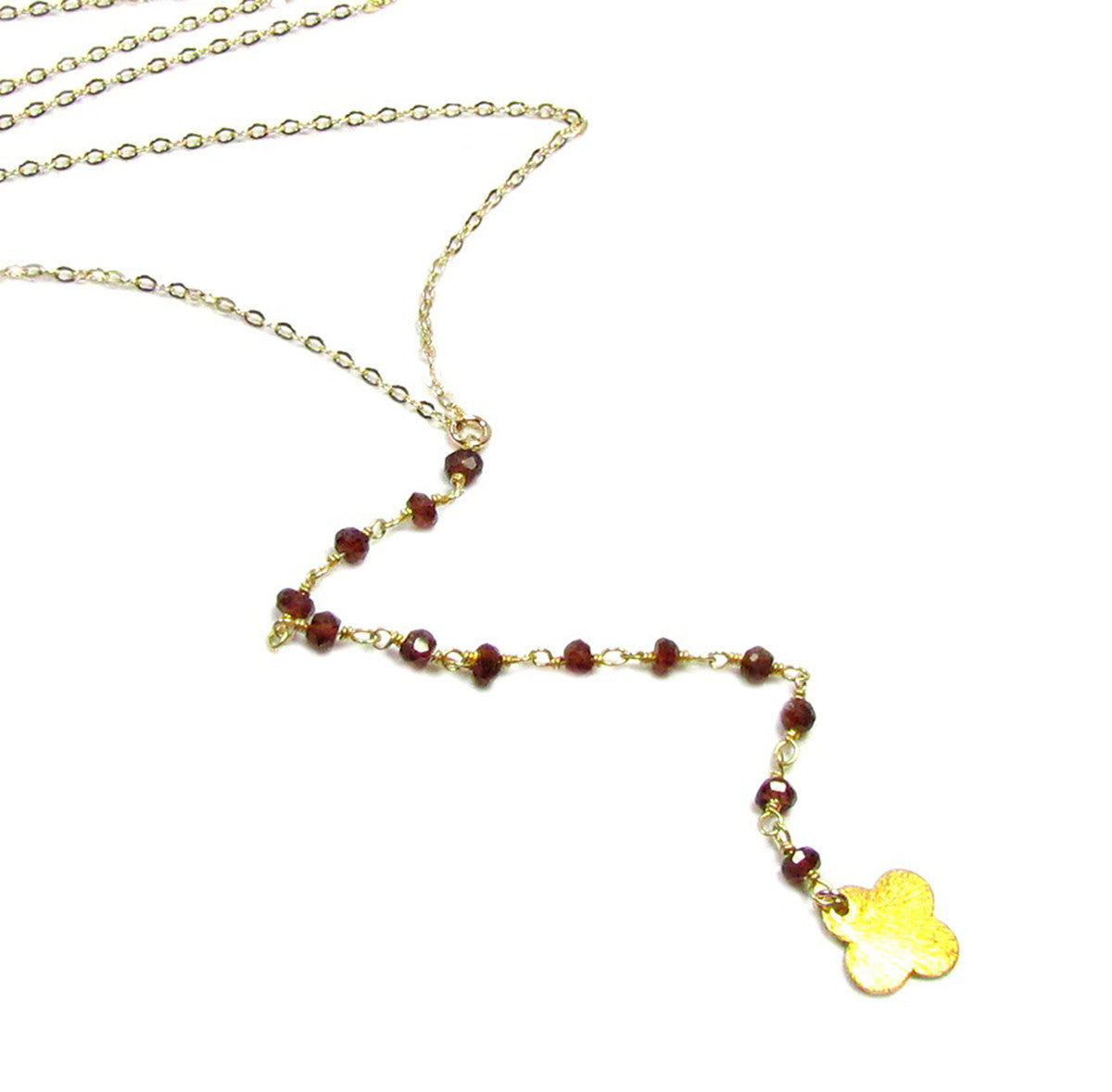 Gemstone Y Lariat Necklace