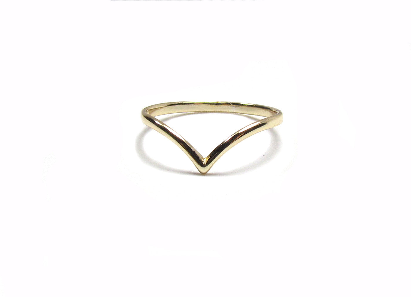 Polished Chevron Band Ring