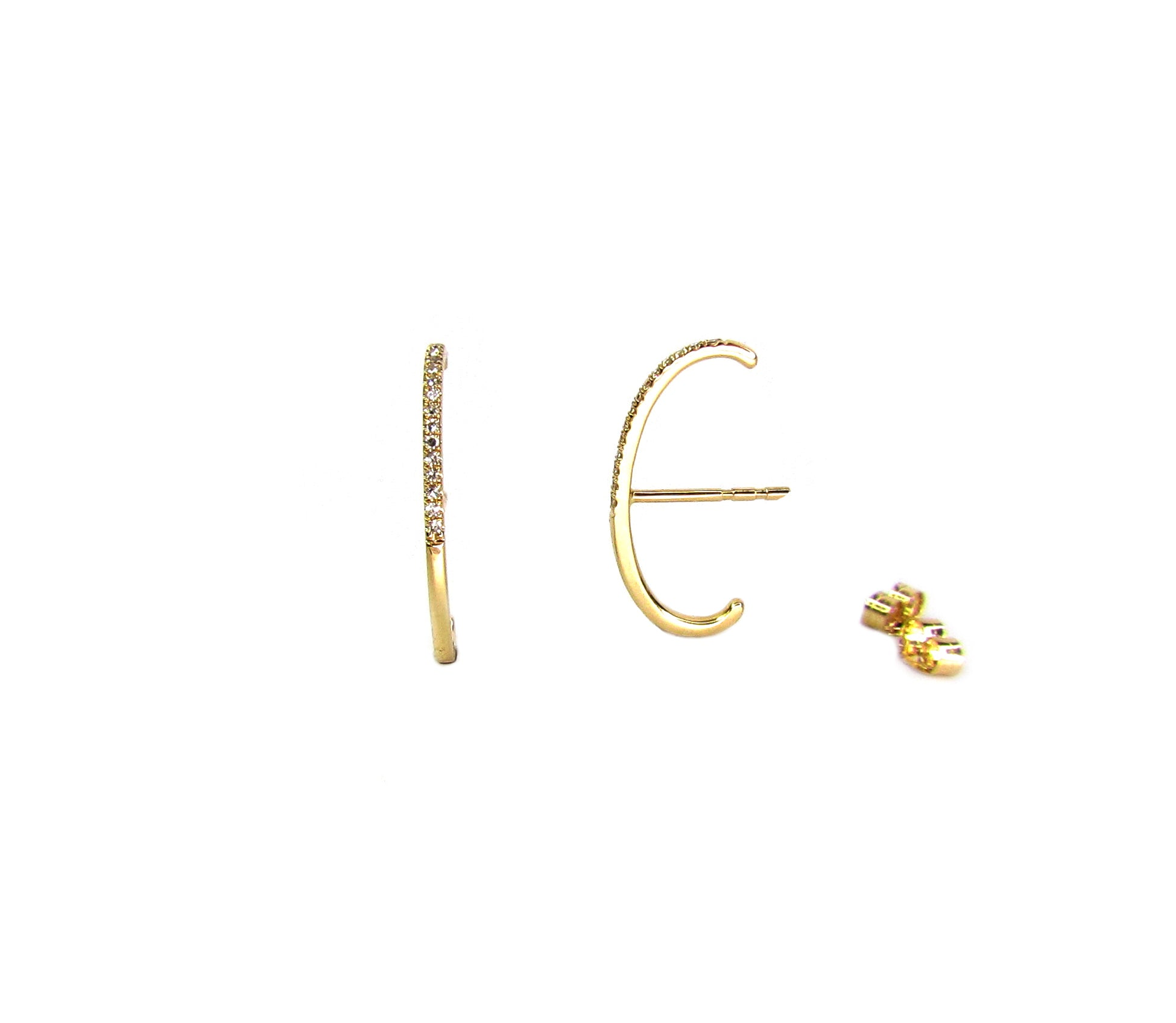 14K Diamond Suspender Earring