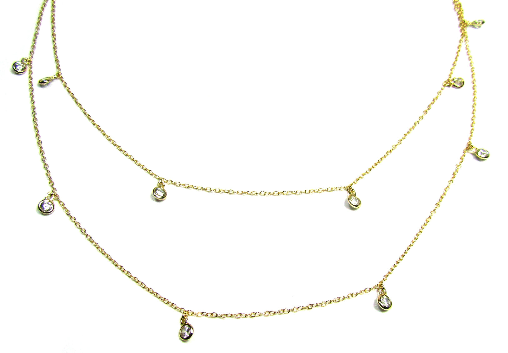 Long Dangling CZ By the Yard Necklace