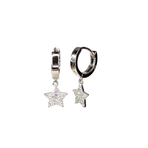 Star Gazer Huggie Hoop Earrings