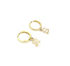 14K Initial Hoop Earrings