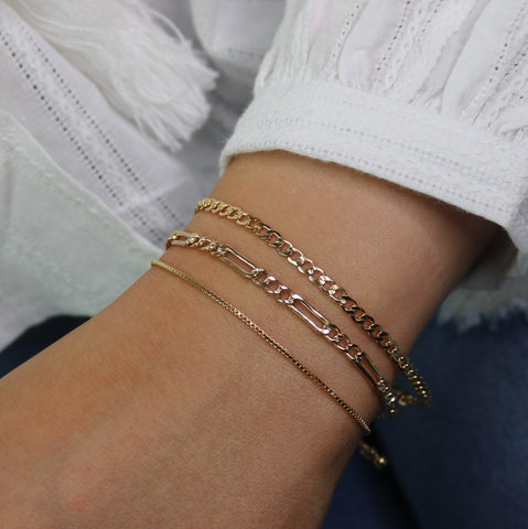 Adjustable Box Chain Slide Bracelet