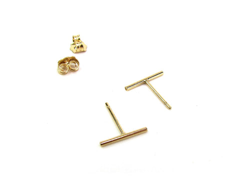 Skinny Rounded Bar Earring