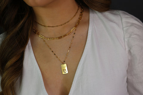 Chunky Paperclip Chain Necklace