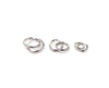 14K White Gold Tiny Polished Hoops