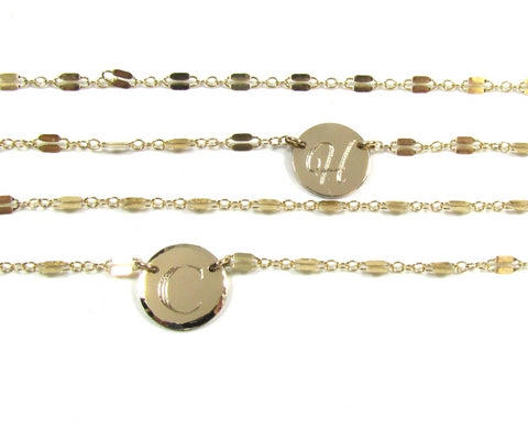 Engravable Initial Necklace