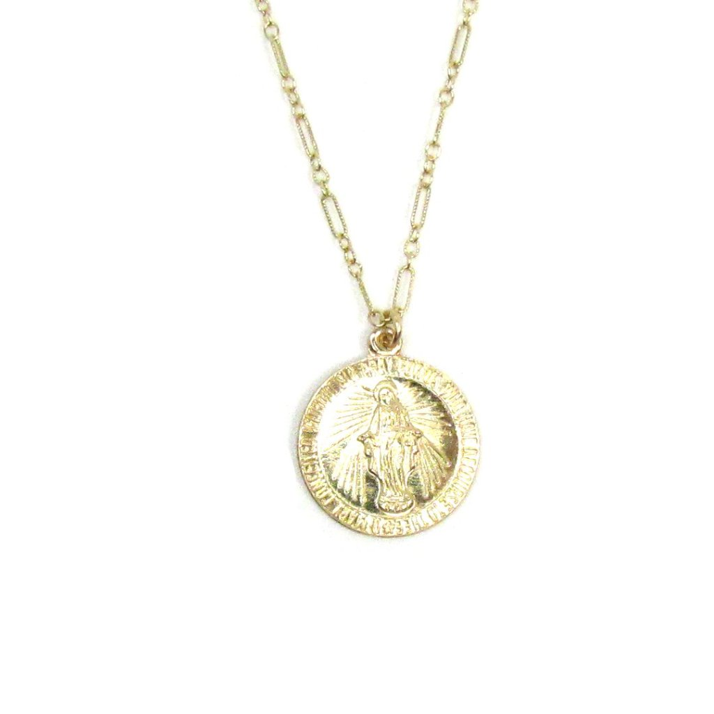 Miraculous Mary Coin Necklace