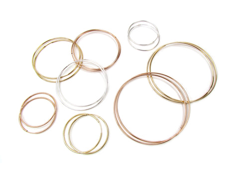 Endless Skinny Hoop Earrings