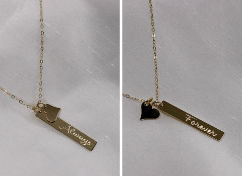 Copy of Engraved Vertical Personalized Necklace